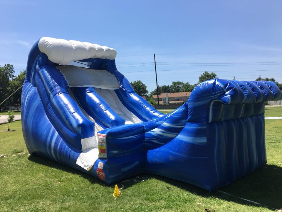 16 ft wave water slide rental bounce house tulsa