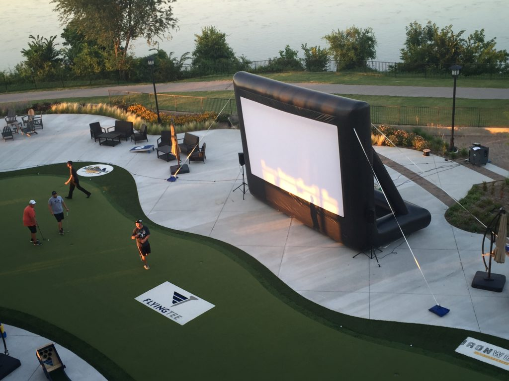 20ft inflatable movie screen rental bounce house tulsa