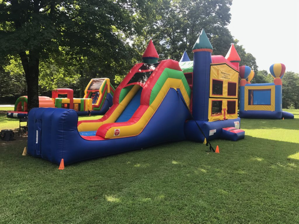 5in1 Combo Bounce House Rental with a slide tulsa