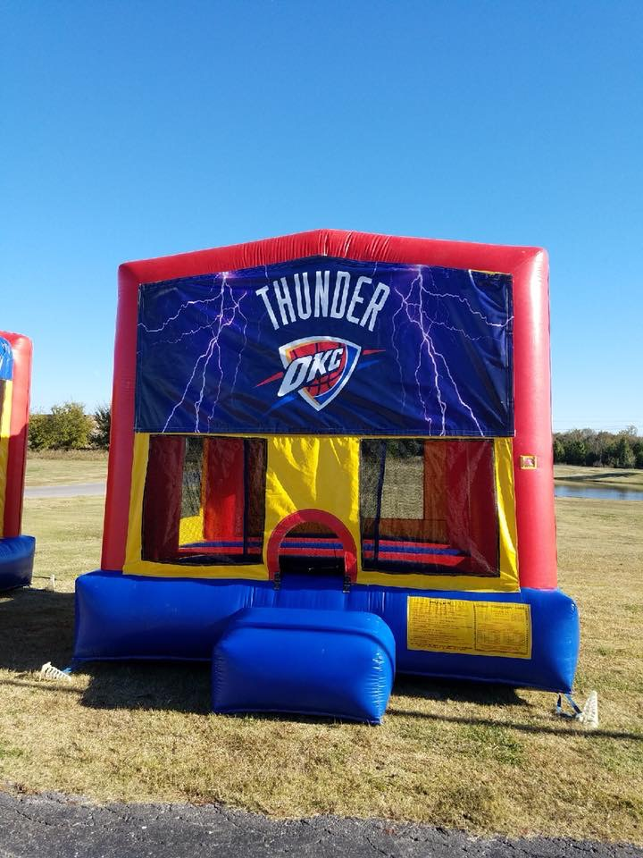 OKC Thunder bounce house rental tulsa bounce pro