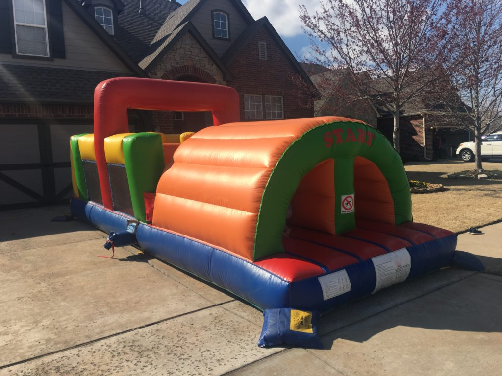 24 ft obstacle course bounce house rental tulsa bounce pro 2
