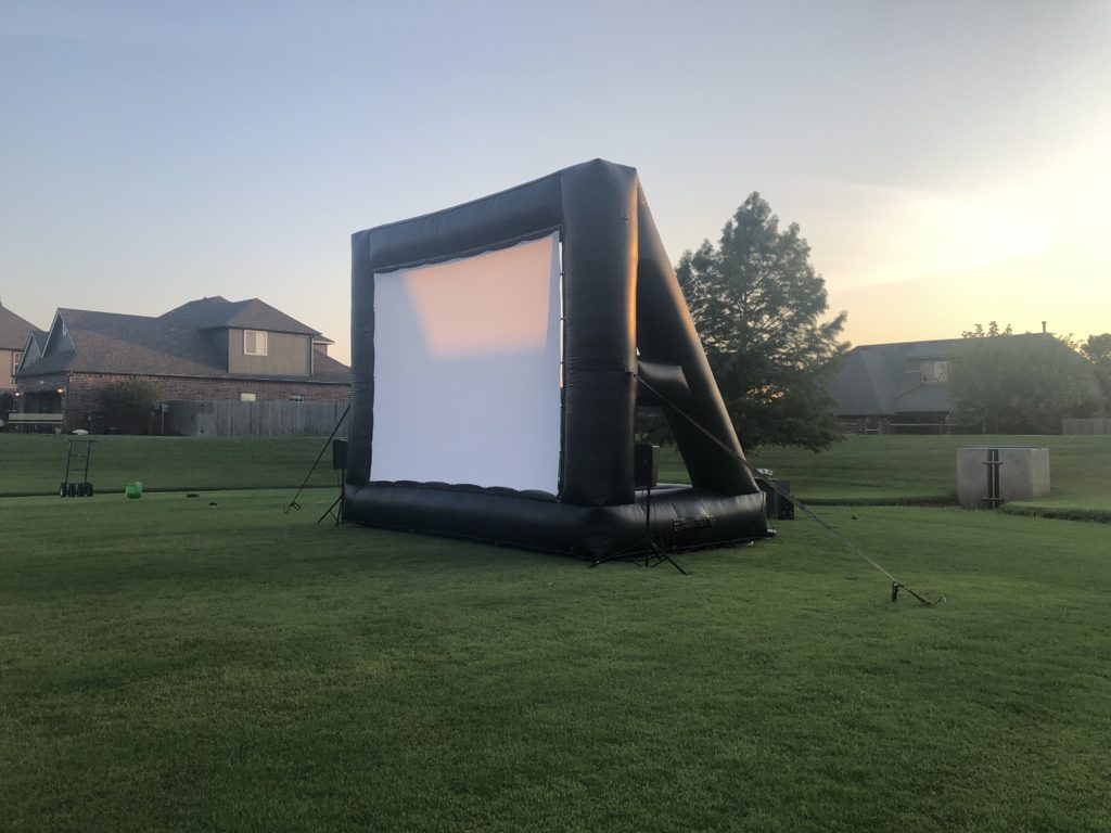 25' Movie Screen Bounce Pro Tulsa movie rental