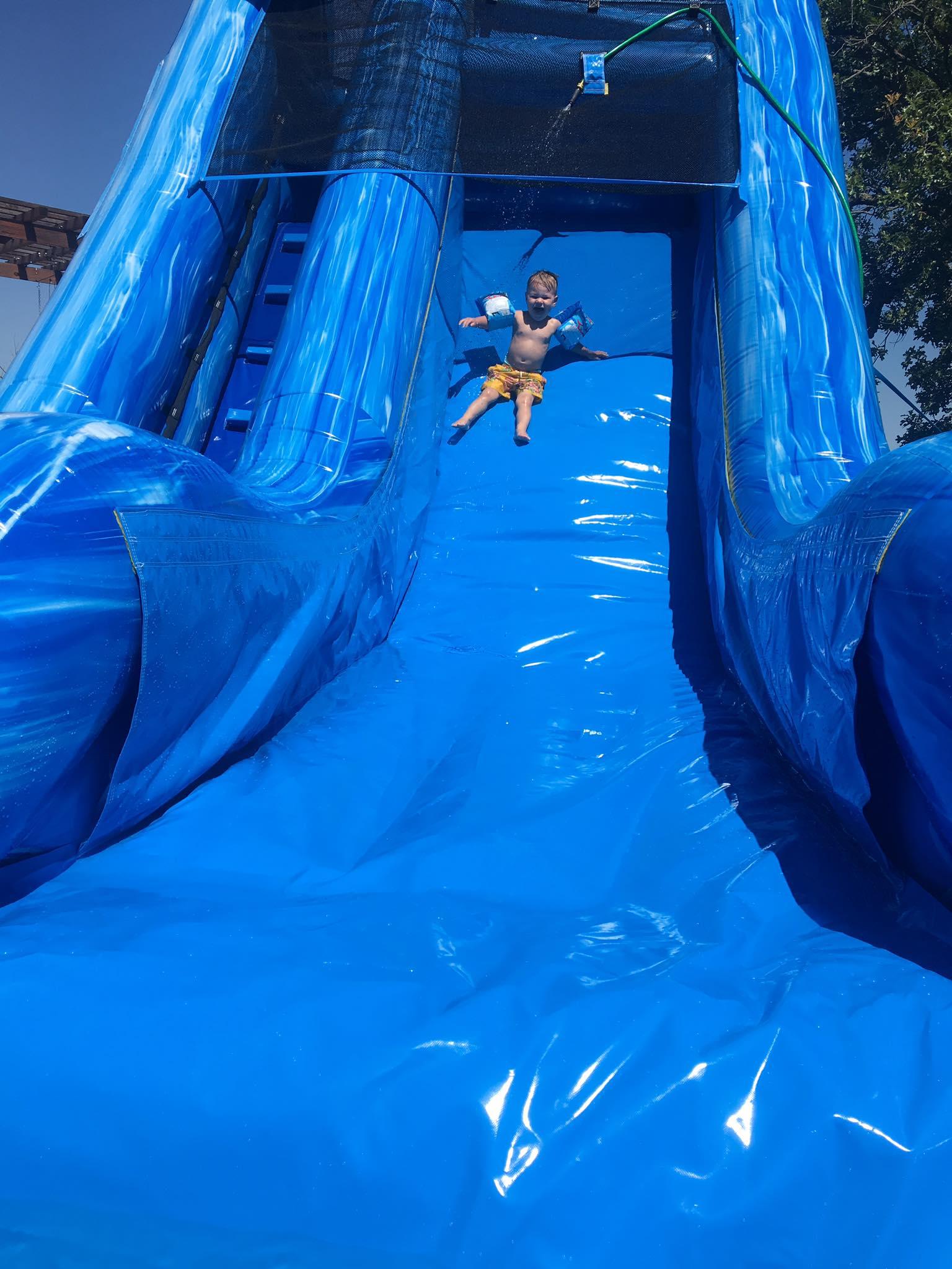 Big Blue Slide Water Slide Rental Tulsa Bounce Pro