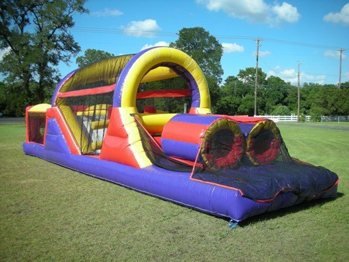 30 ft obstacle course bounce house rental tulsa bounce pro infltables 4