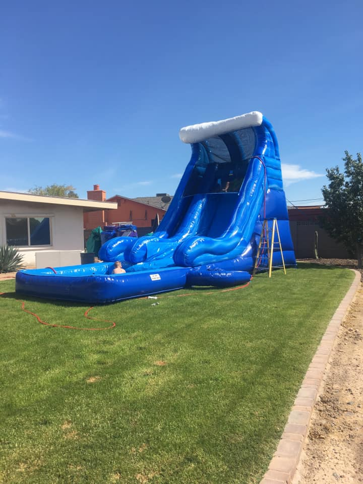 Tidal Wave Water Slide Bounce house rental tulsa bounce pro inflatables