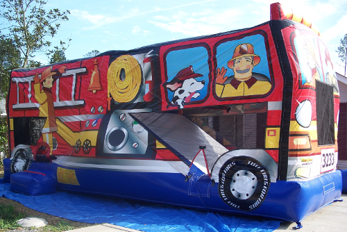 Fire Truck Combo Bounce House Rental Tulsa Bounce Pro Infaltables