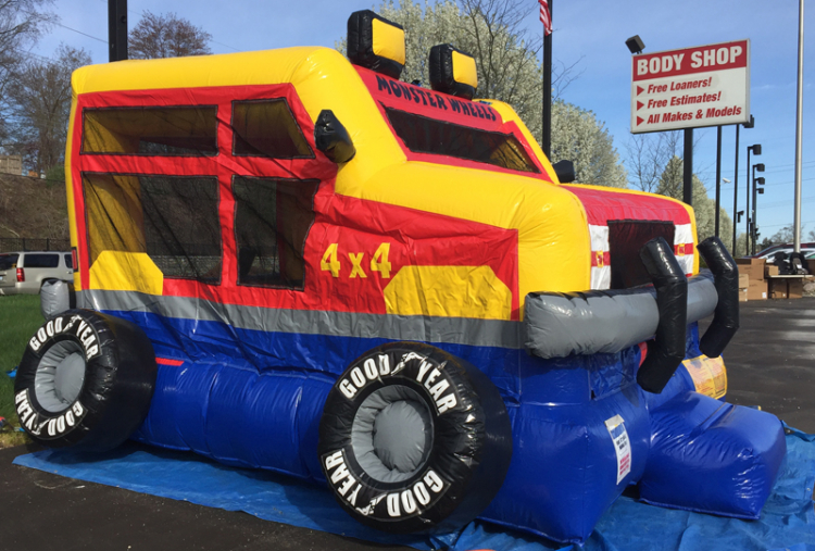 Monster Truck Bounce House TTulsa Rental Bounce Pro Inflatables