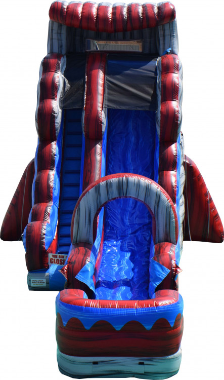 22ft Lava Rush Slide with Pool
